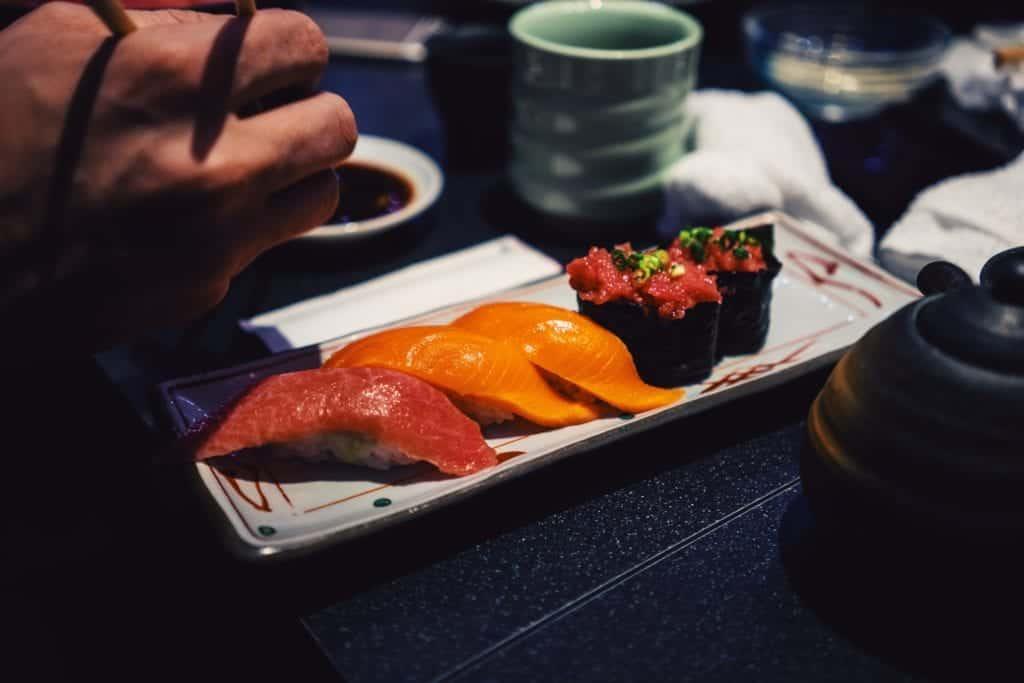 japanese real sushi in shibuya.