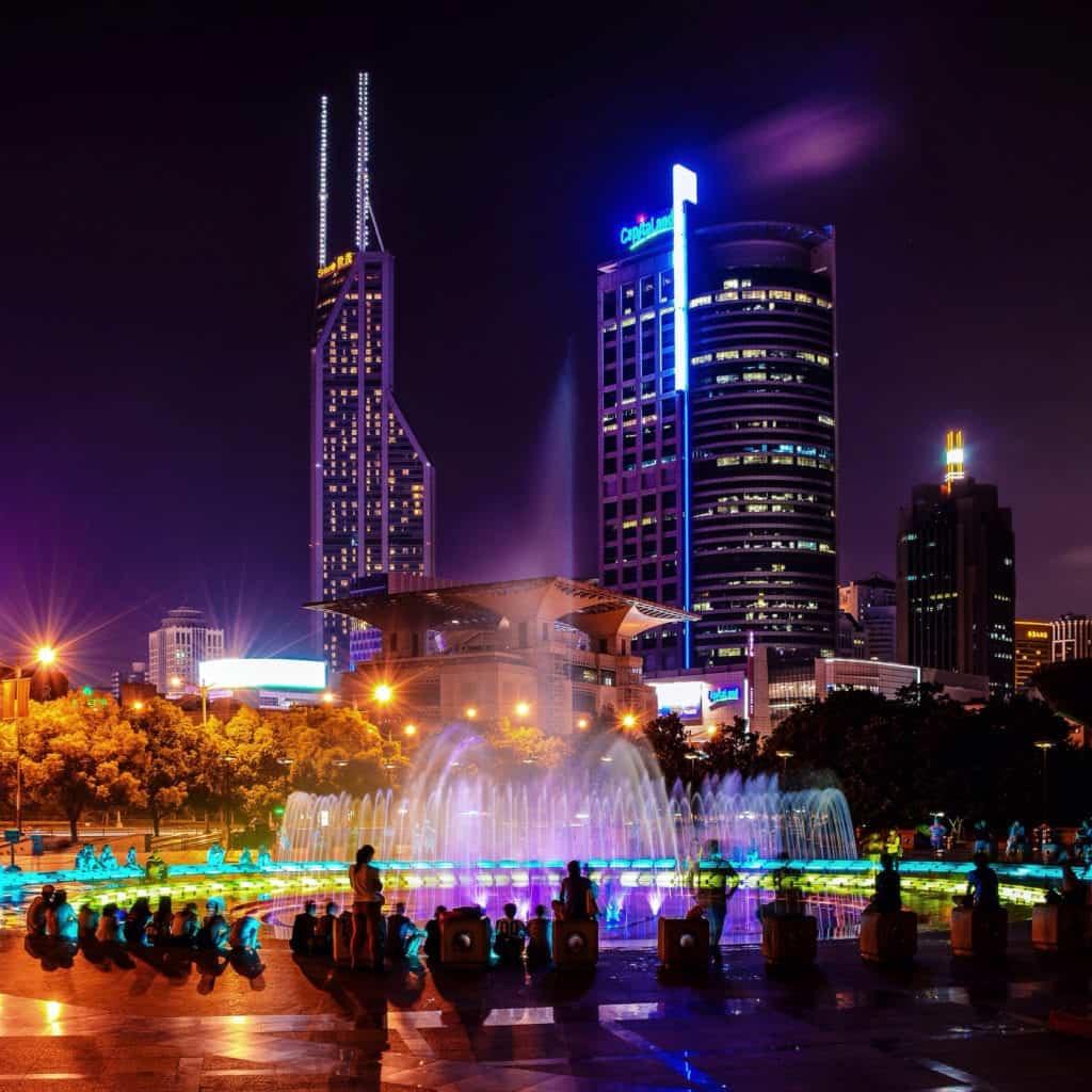 Peoples square i Shanghai, kina.