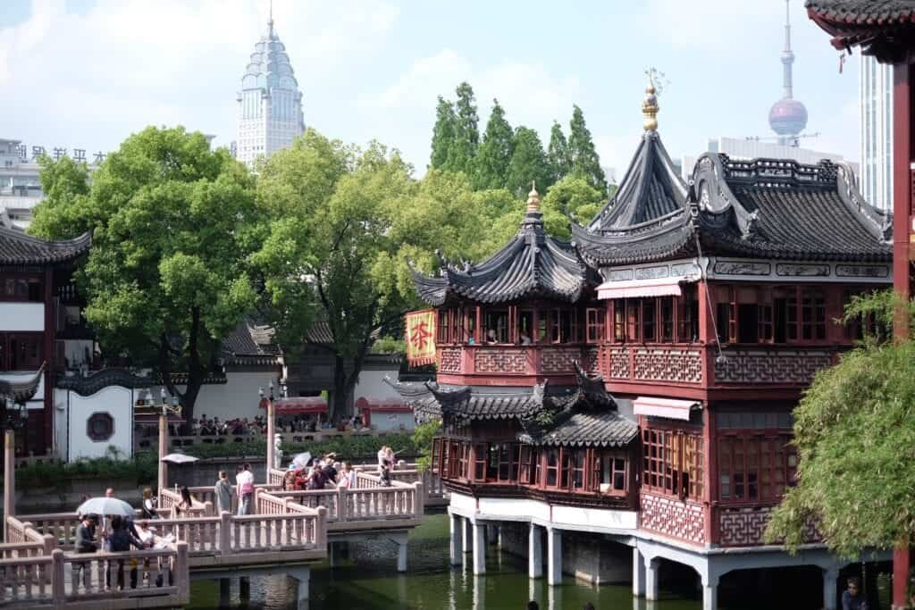 Picture over Yu Garden in Shanghai, China