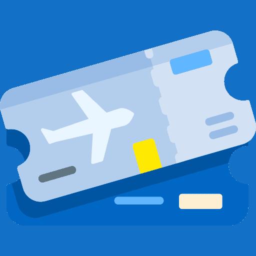 Två stycken boardingkort för flygresor.