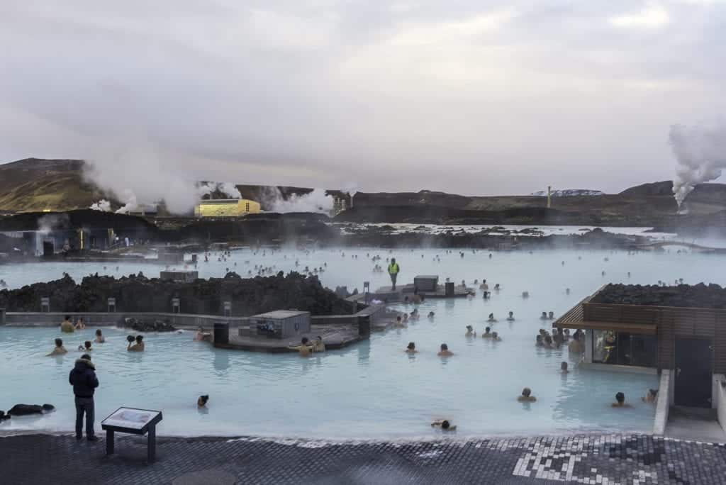 Blue lagoon spa in iceland.