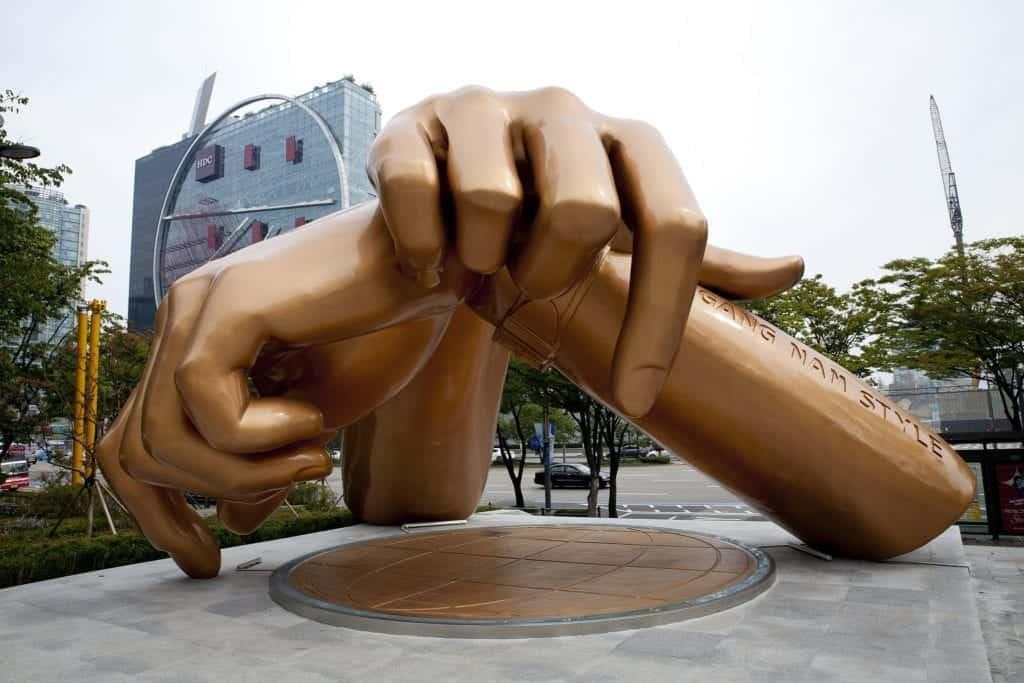 Gangnam style statue