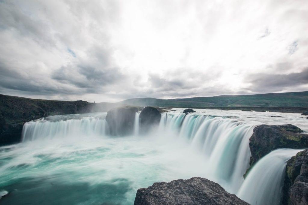 Godafoss waterfall in northern island.