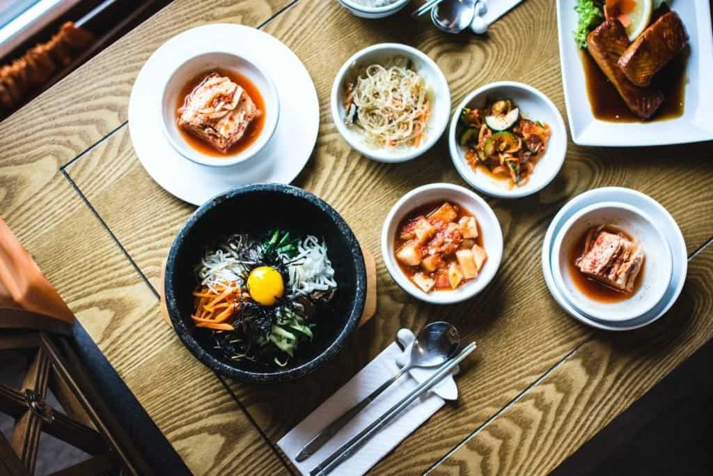 Banchan dishes