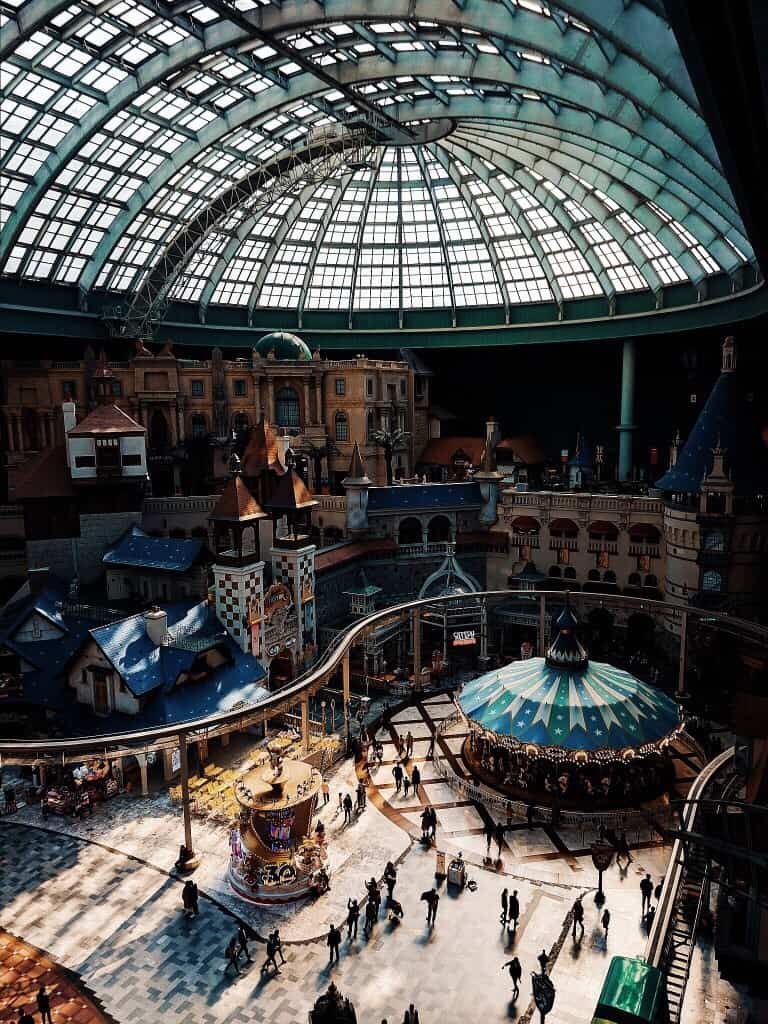 Lotte world from above