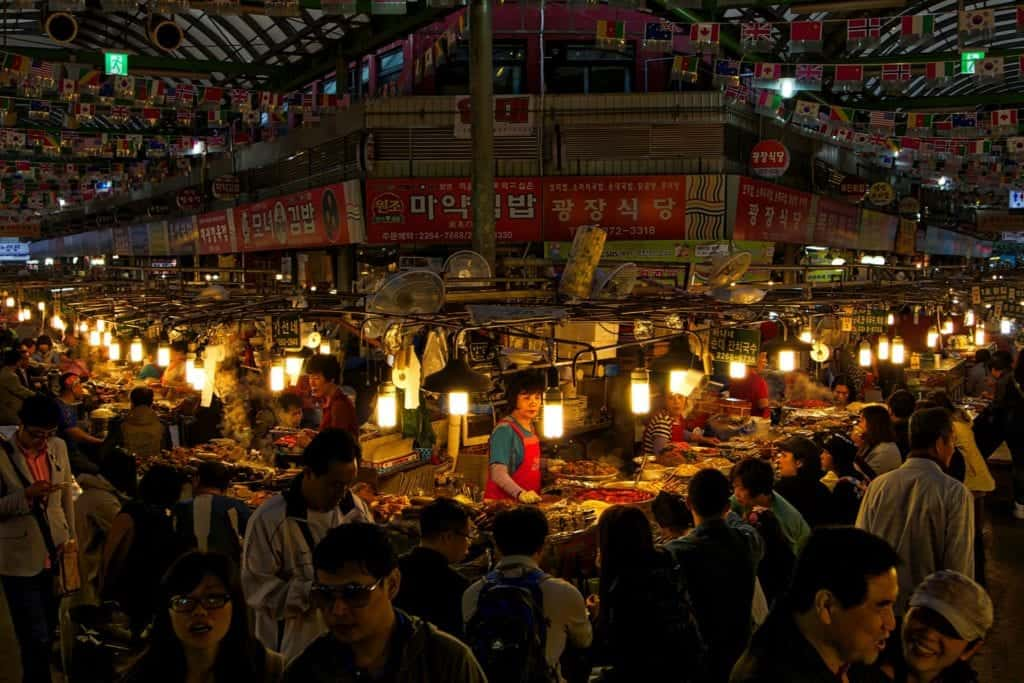 Food market in korea