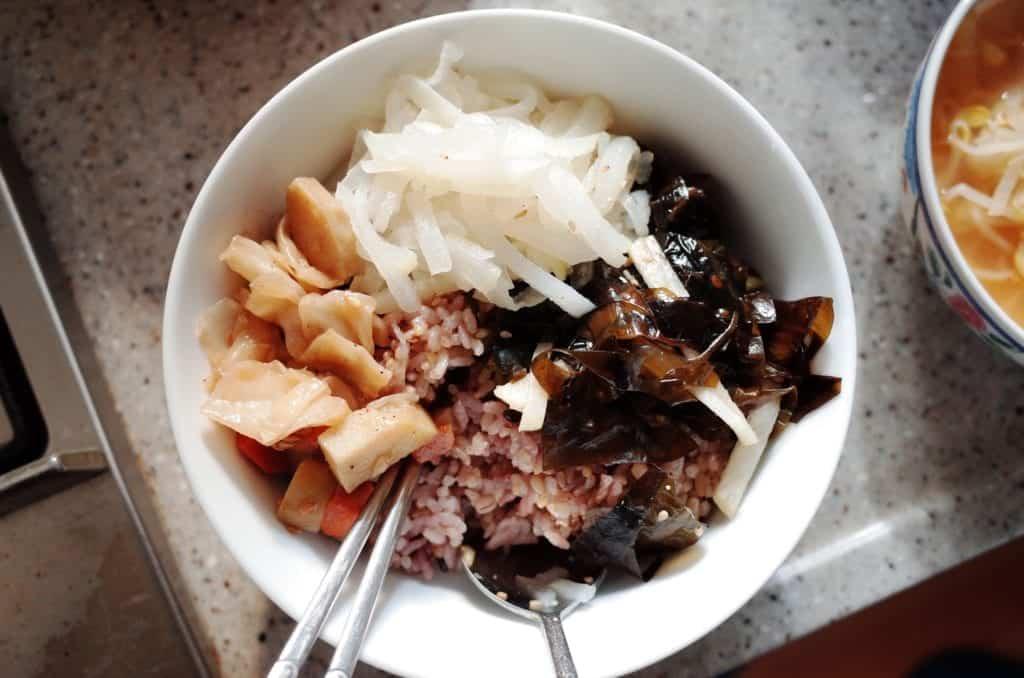 Vegan bowl of food korea