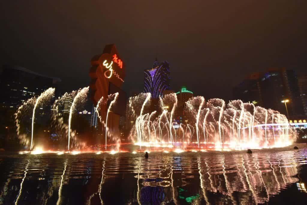 macau shows at night.