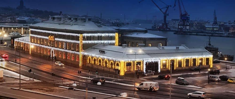 Jul belysning på kasinot i Göteborg.