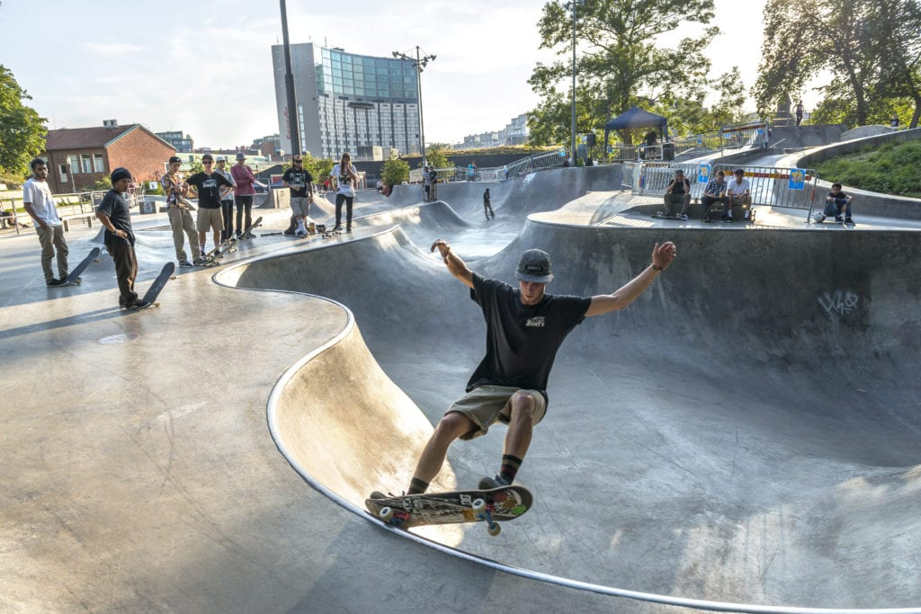 Skater showing off at Actionparken in Göteborg City.