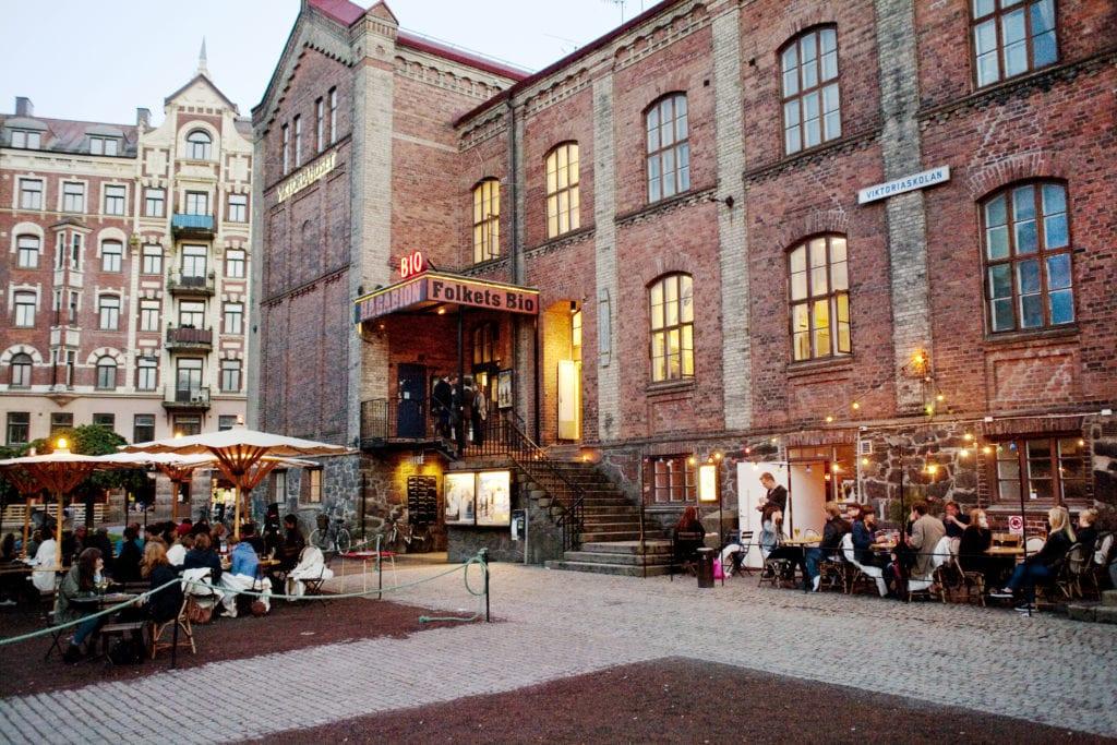 Hagabion längst med Linnégatan i Göteborg.