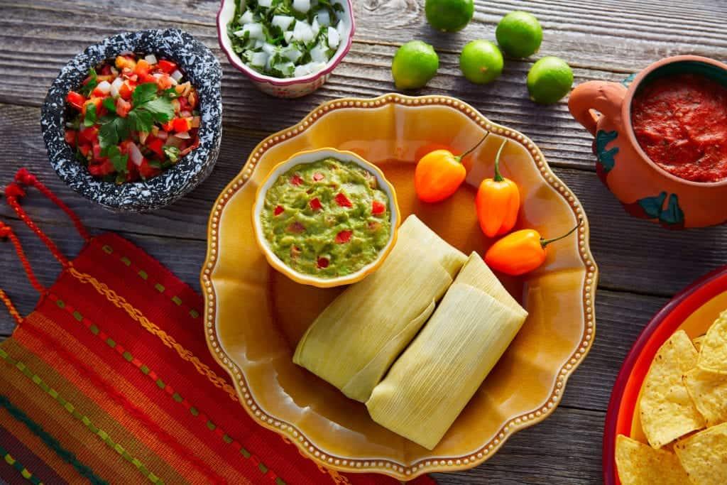 Preparation of Tamales.