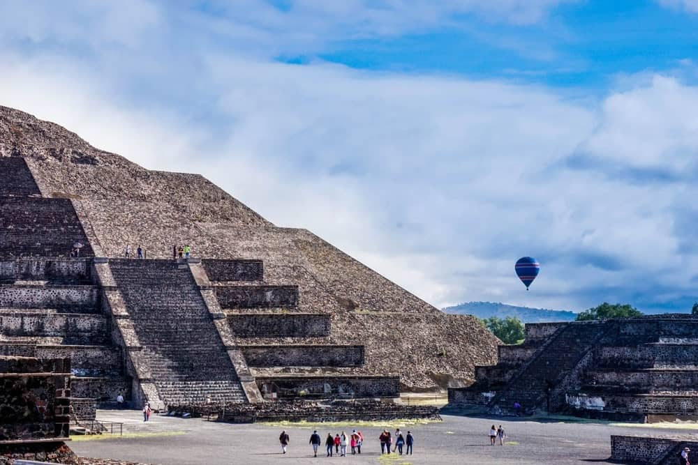 At Teotihuacan in mexico city.
