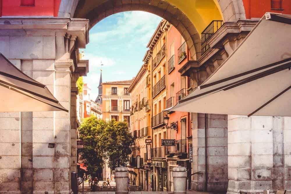 Daily walk in Madrid, spain.