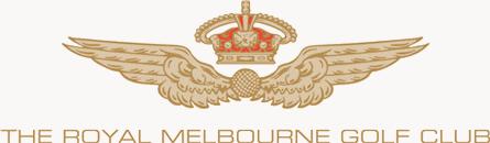 Logotyp för the royal melbourne golf.