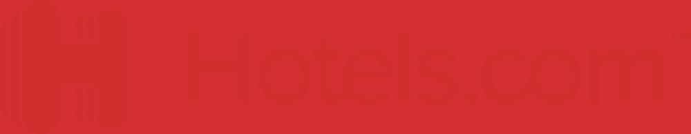Logon för Hotels.com med röd text.